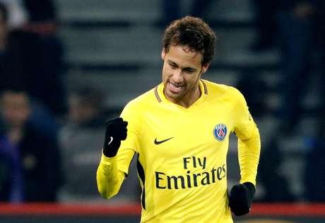 Neymar comemora seu gol pelo PSG