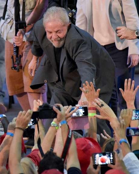 Ex-presidente Luiz Inácio Lula da Silva durante evento em Belo Horizonte 21/02/2018 REUTERS/Washington Alves