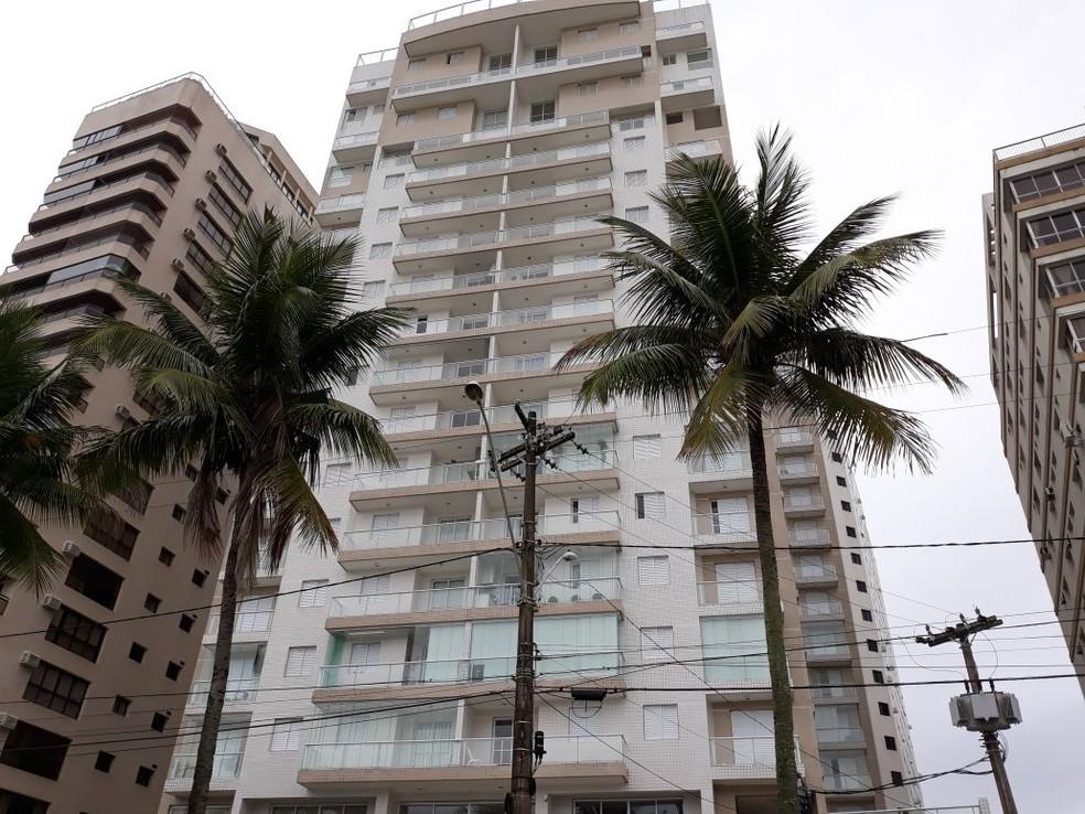 Condomínio Solaris, em Guarujá, SP, onde localiza-se triplex atribuído a Lula (Foto: João Amaro/G1)