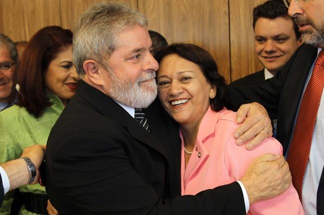 Resultado de imagem para Lula Fátima Bezerra